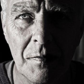 Psychoonkologie - Gesicht eines Mannes